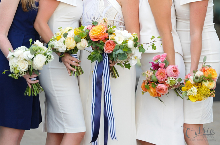 Ombre bridal party flowers by Celsia Floral