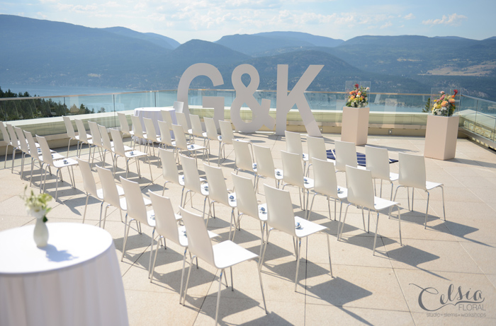 Outdoor ceremony setting, Sparkling Hill Winery, Okanagan.