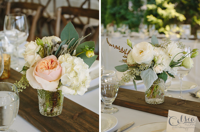 Reception flowers by Celsia Floral.