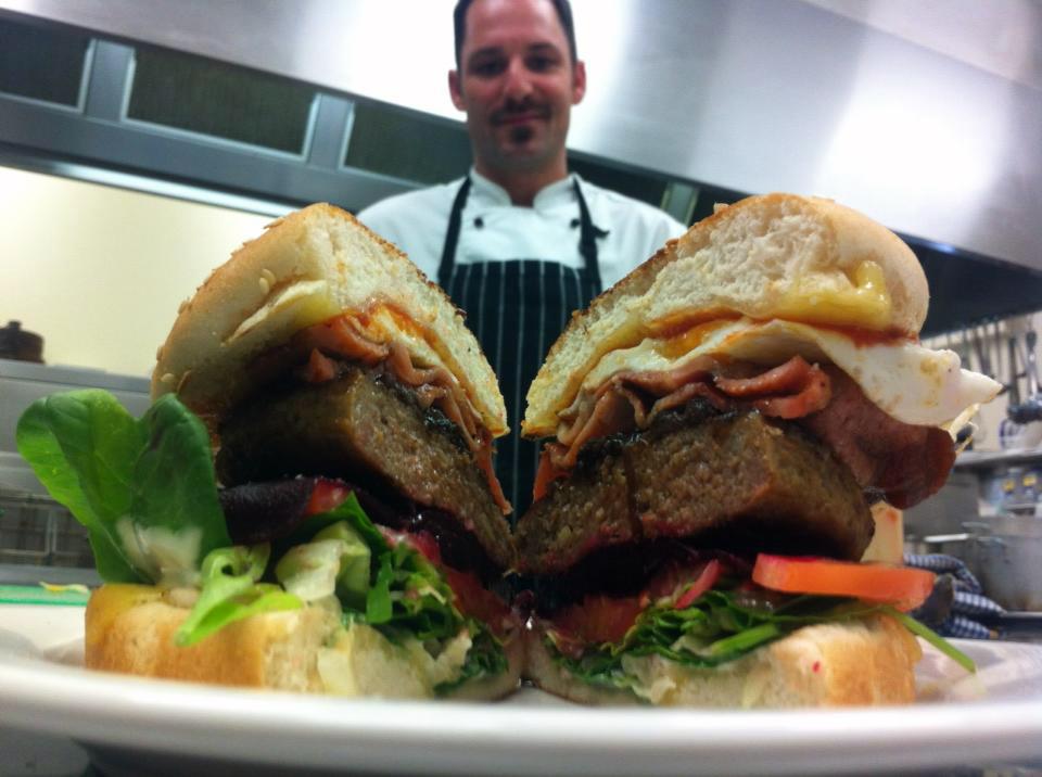 Chef Scott with the Big Boy Burger