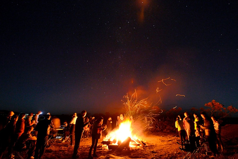 Camp Fire Star Gazing