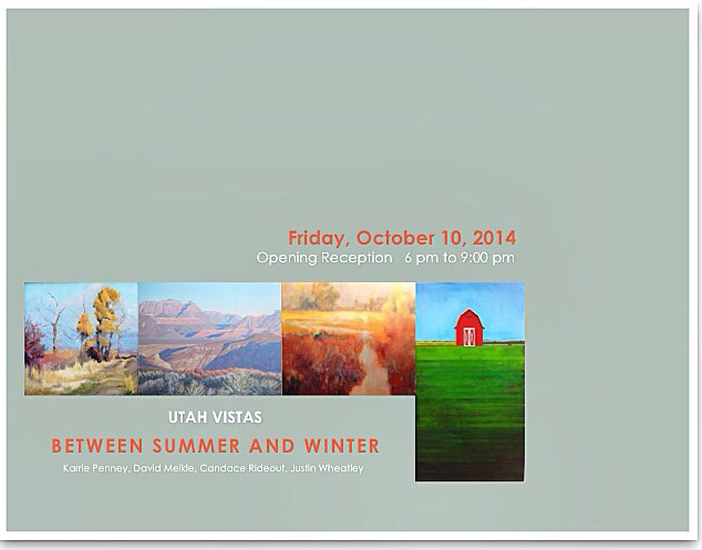 The show opens Friday, October 10 from 6PM to 9PM at Evergreen Gallery, 3229 South, 2000 East, Salt Lake City