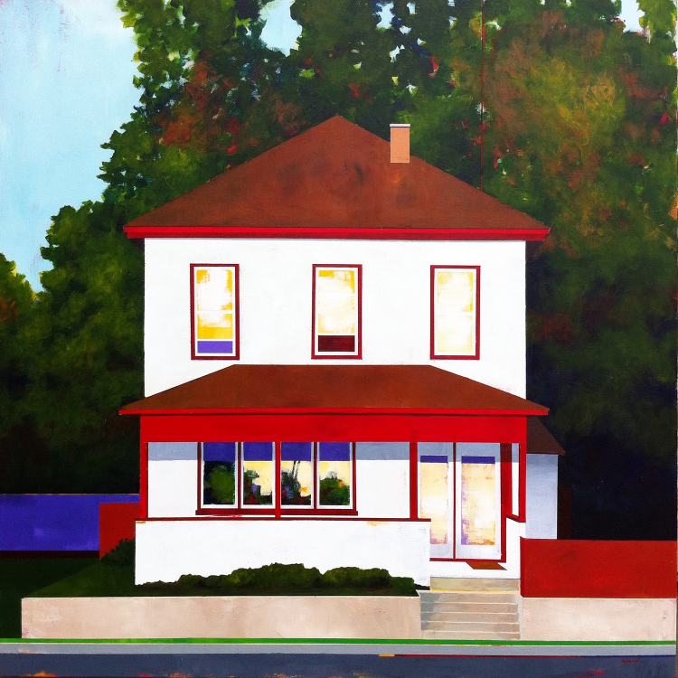 "House on 9th West 35"" x 35"""