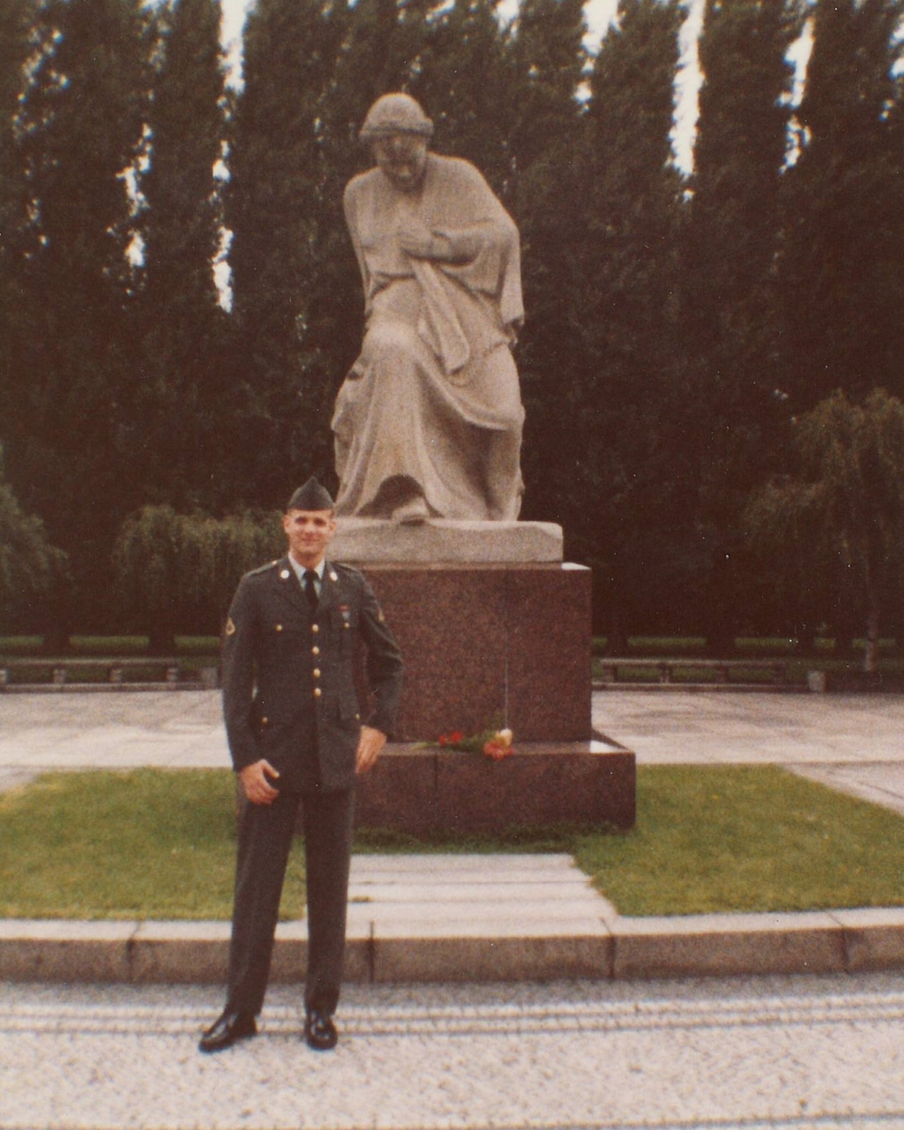 PFC Jonathan Dyer at the Soviet War Memorial - 1983