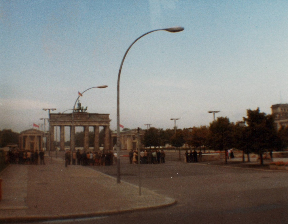 The Brandenburg Gate circa 1984