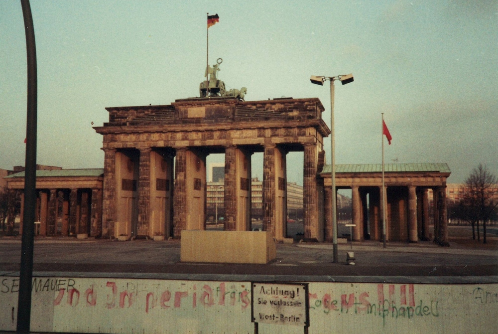 The Berlin Wall at The Brandenburg Gate in 1983