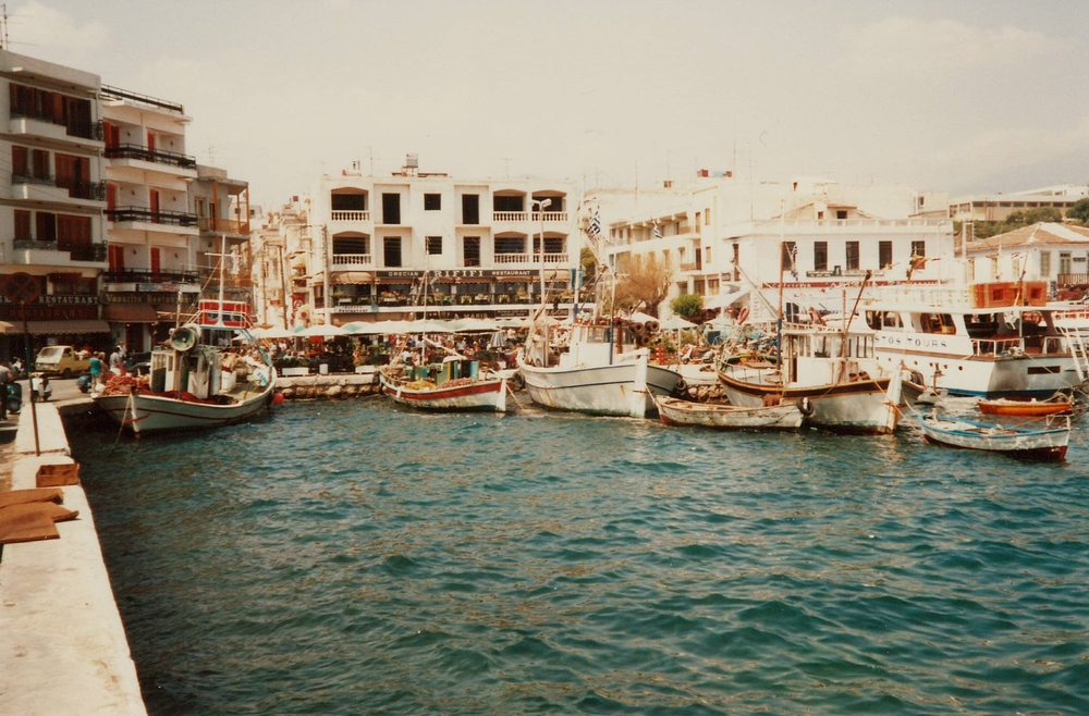 The harbor at Agios Nikolaos - May 1985