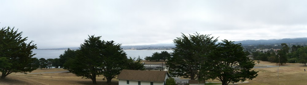 Monterey Bay from the base of the Presidio
