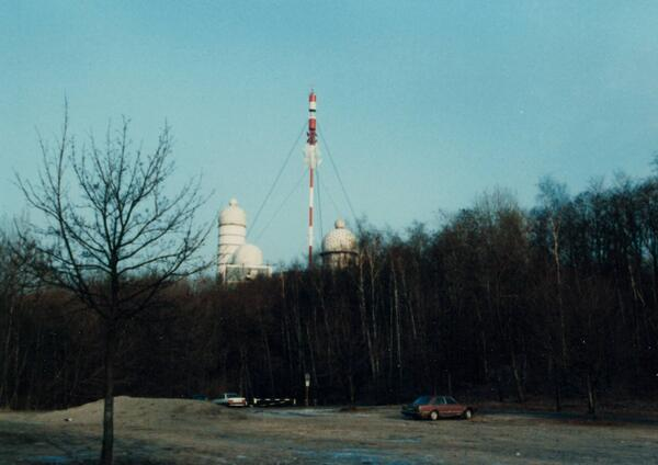 Teufelsberg, Berlin, from the Grunewald, February of 1985.