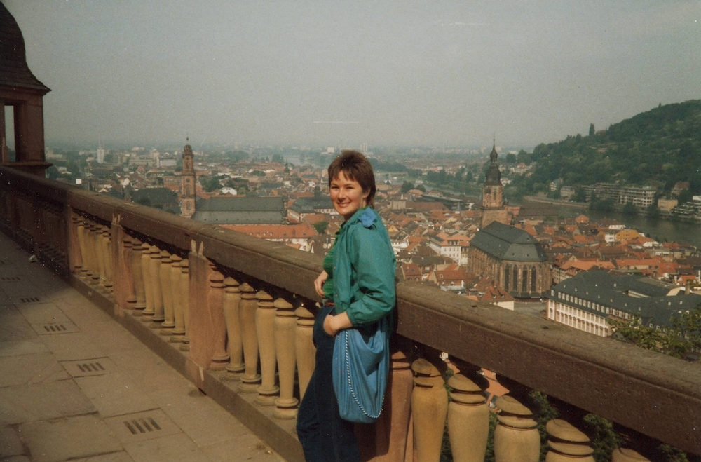 Kerry at the Schloss Heidelberg in May of 1986.