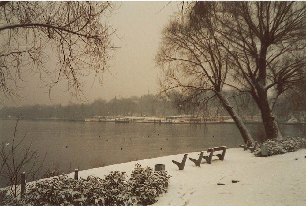 Berlin's Wannsee sometime during the winter of 1983-1984.