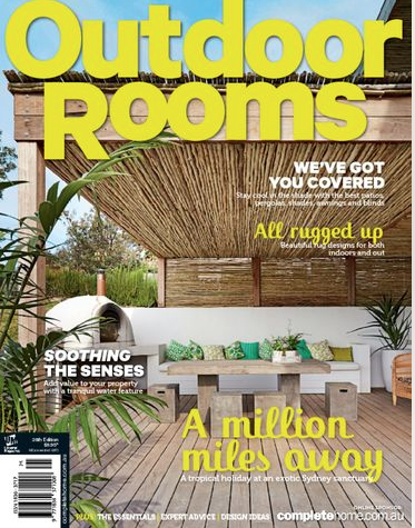 Outdoor Rooms  April, 2015 Article about one of our coastal Cronulla designs.