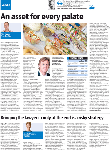 "Sunday Star Times: ""An asset for every palate"" - May 2011"