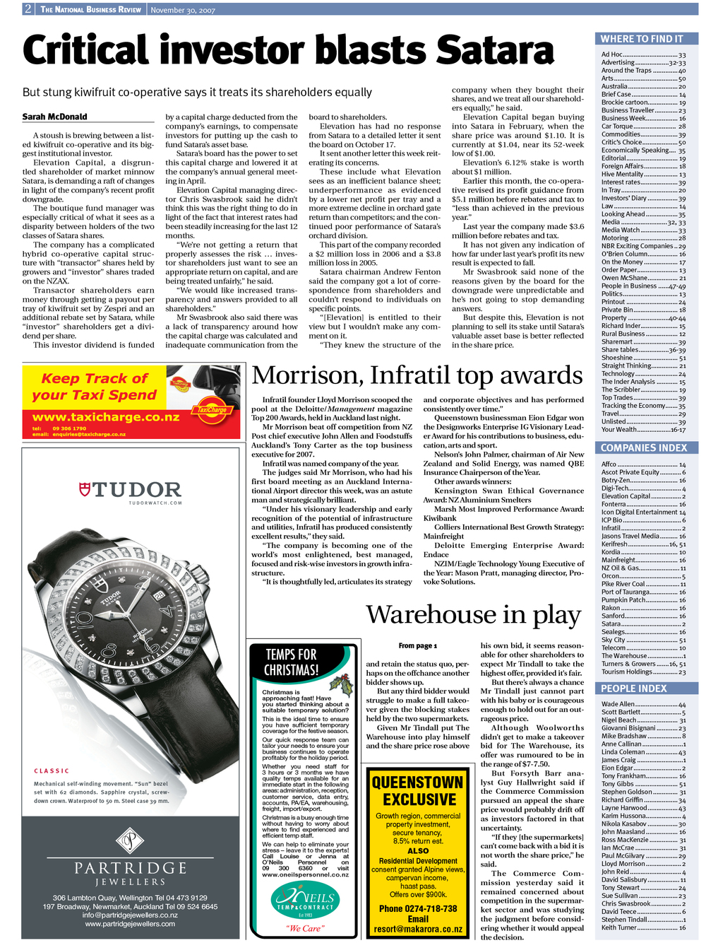 "NBR: ""Critical Investor blasts Satara"" - November 2007"