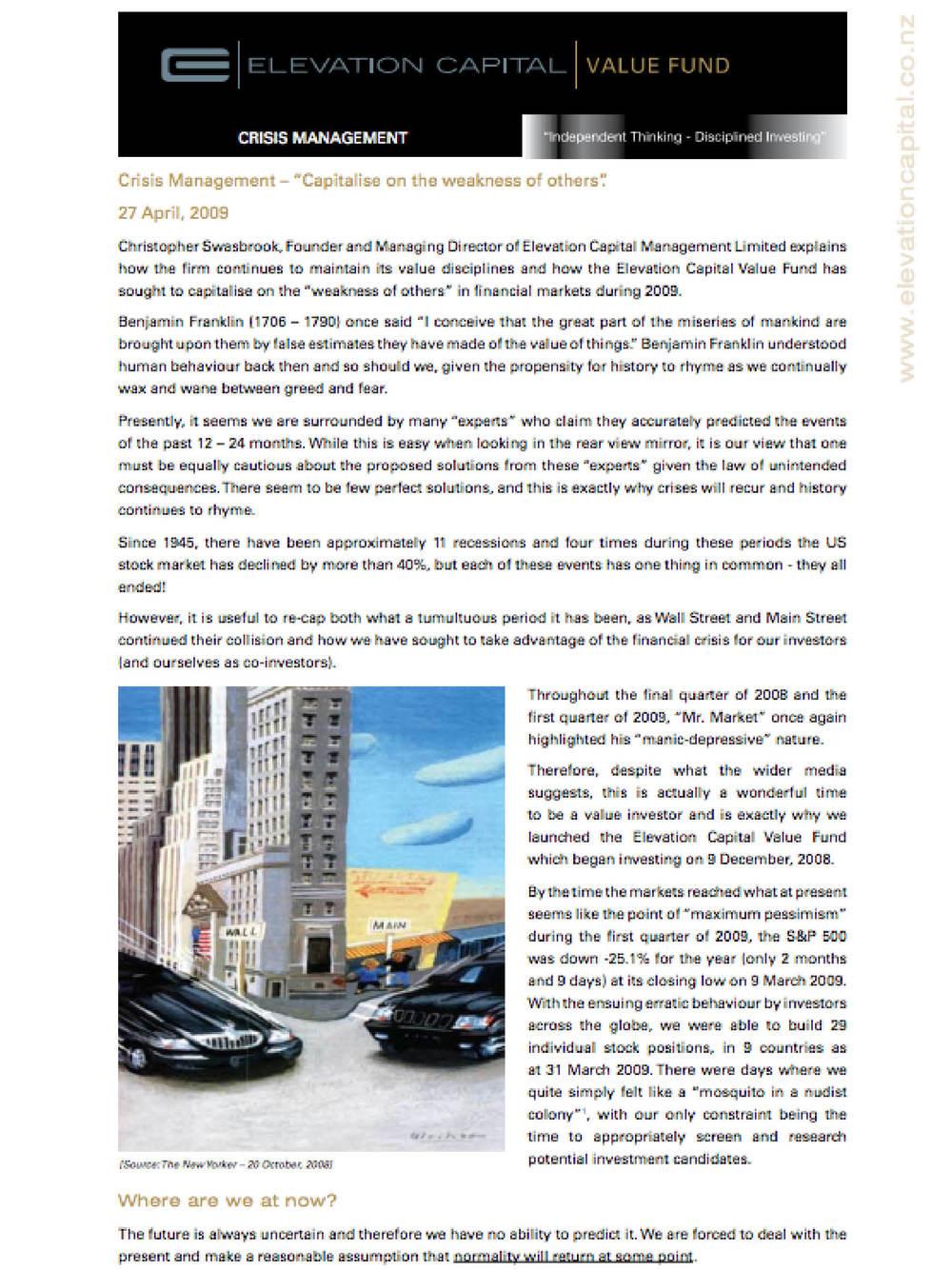 Asset Magazine - May 2009