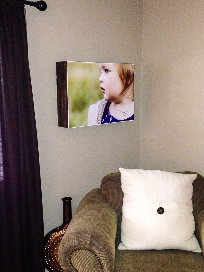Iphone pic of my image at Ginny's house.
