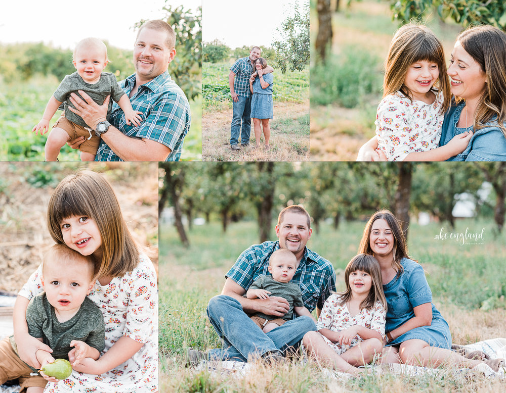 Orchard Family Session in Greenbluff, WA www.kcengland.com