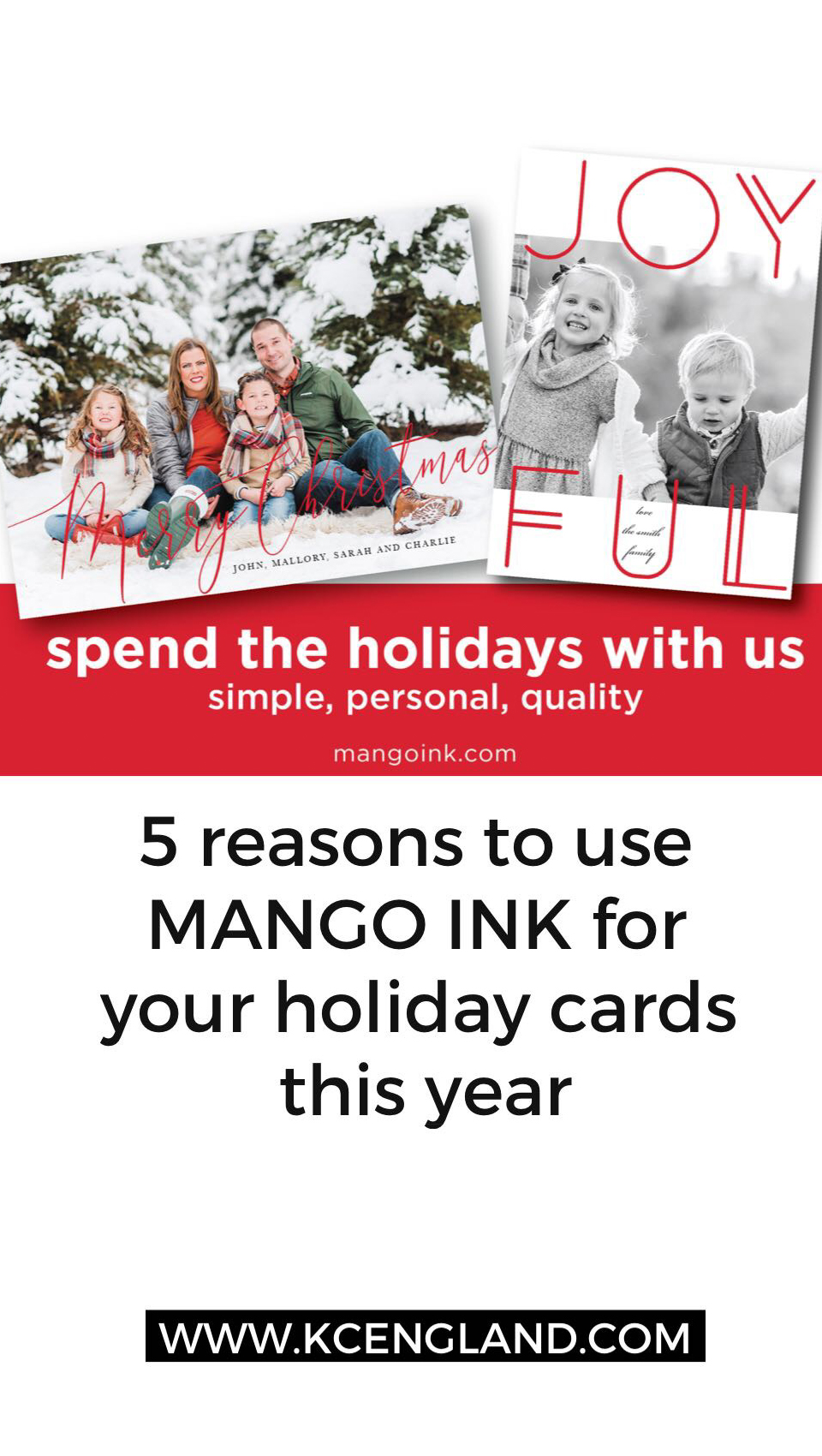 5 reasons to use MANGO INK for your Holiday Cards