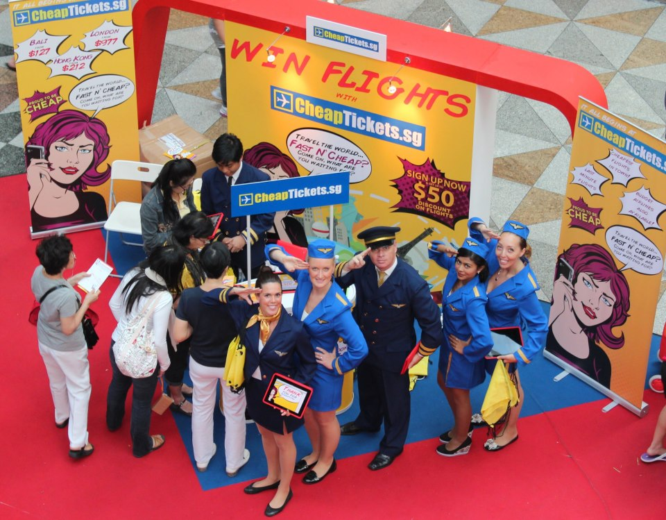 Pilots and flight attendants from CheapTickets!