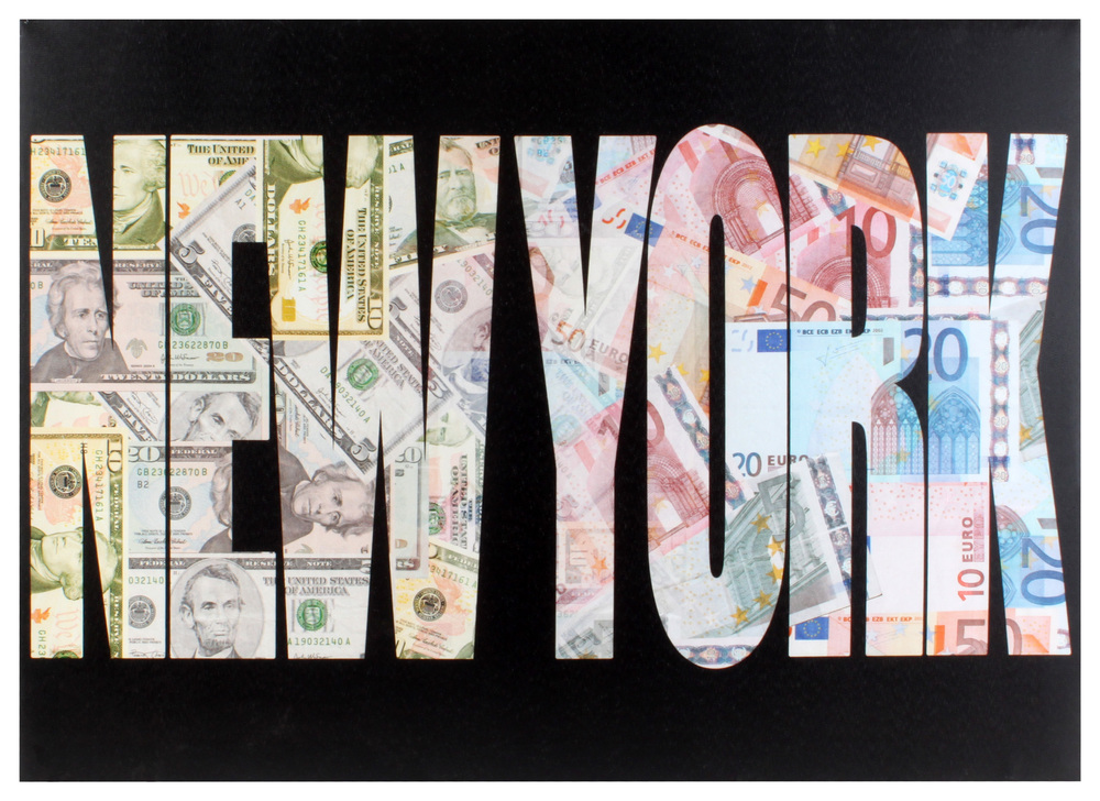 €15 CANVAS PRINTED PAINTING 'NEW YORK' 70X2.5X50