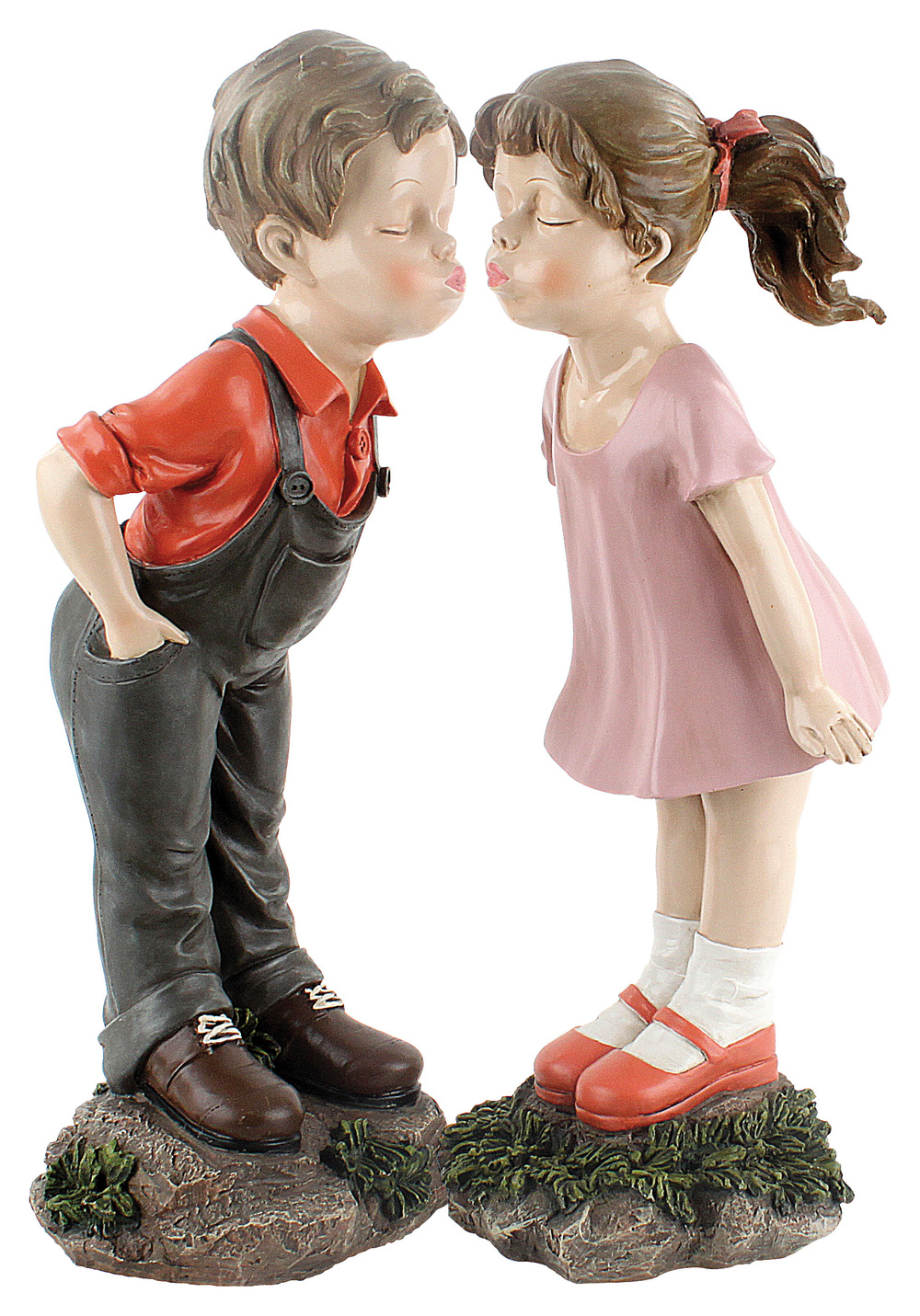 €57 STANDING BOY AND GIRL POLYRESIN  (20Χ20Χ55/23Χ20Χ54)