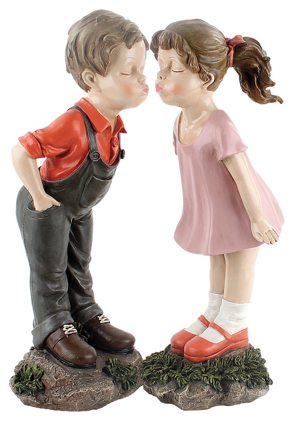 €57 STANDING BOY AND GIRL POLYRESIN  (20Χ20Χ55/23Χ20Χ54)