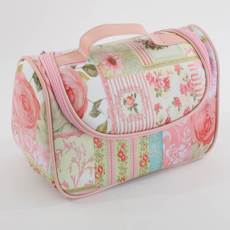 €16 PU COSMETIC BAG W/ROSES 24Χ17Χ12