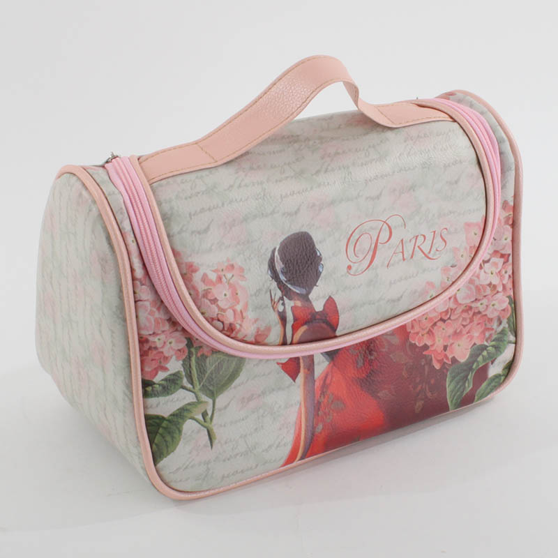 €16 PU COSMETIC BAG W/PARIS AND LADY 24Χ13Χ16