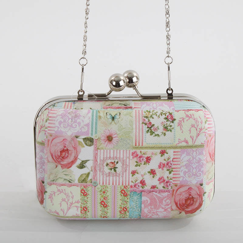 €26 PU SHOULDER BAG W/ROSES 15Χ6X11(60)