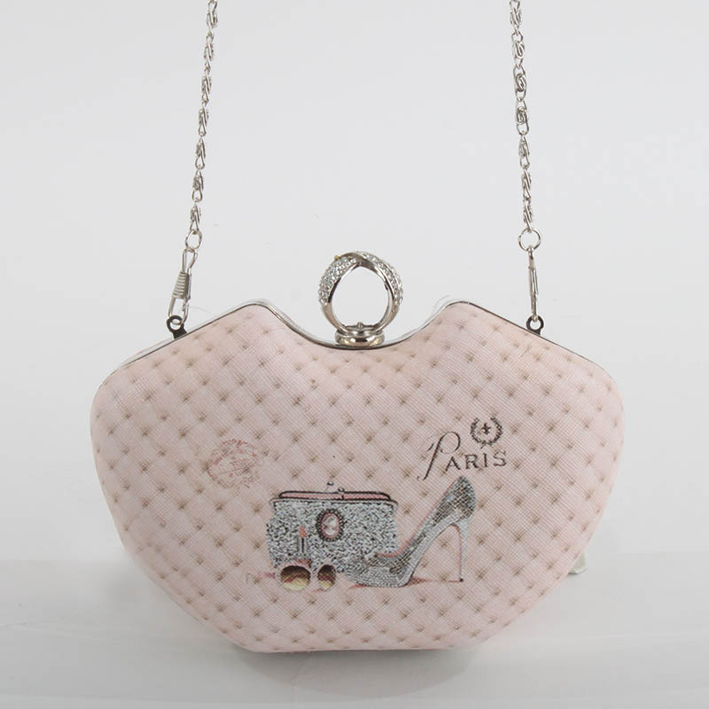 €28 PU SHOULDER BAG IN PINK COLOR AND SHOES 17Χ6X13(60)