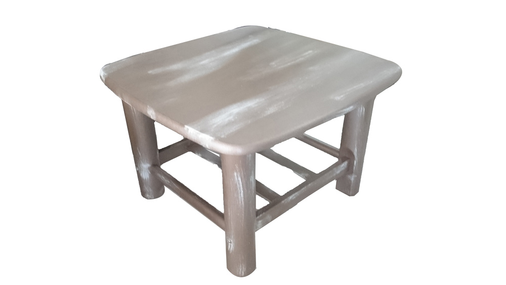€130 wooden side table 60x60x40