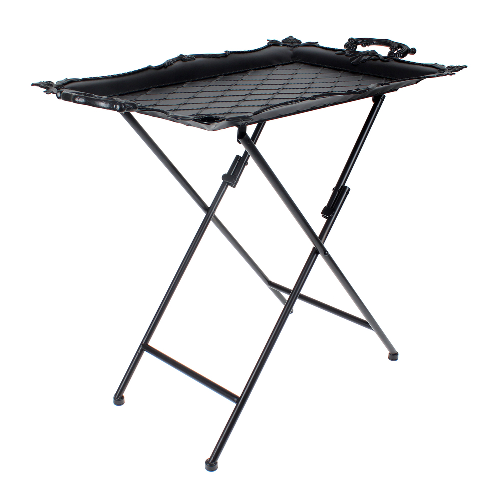 €98 METAL TRAY TABLE IN BLACK COLOR 69X43X63