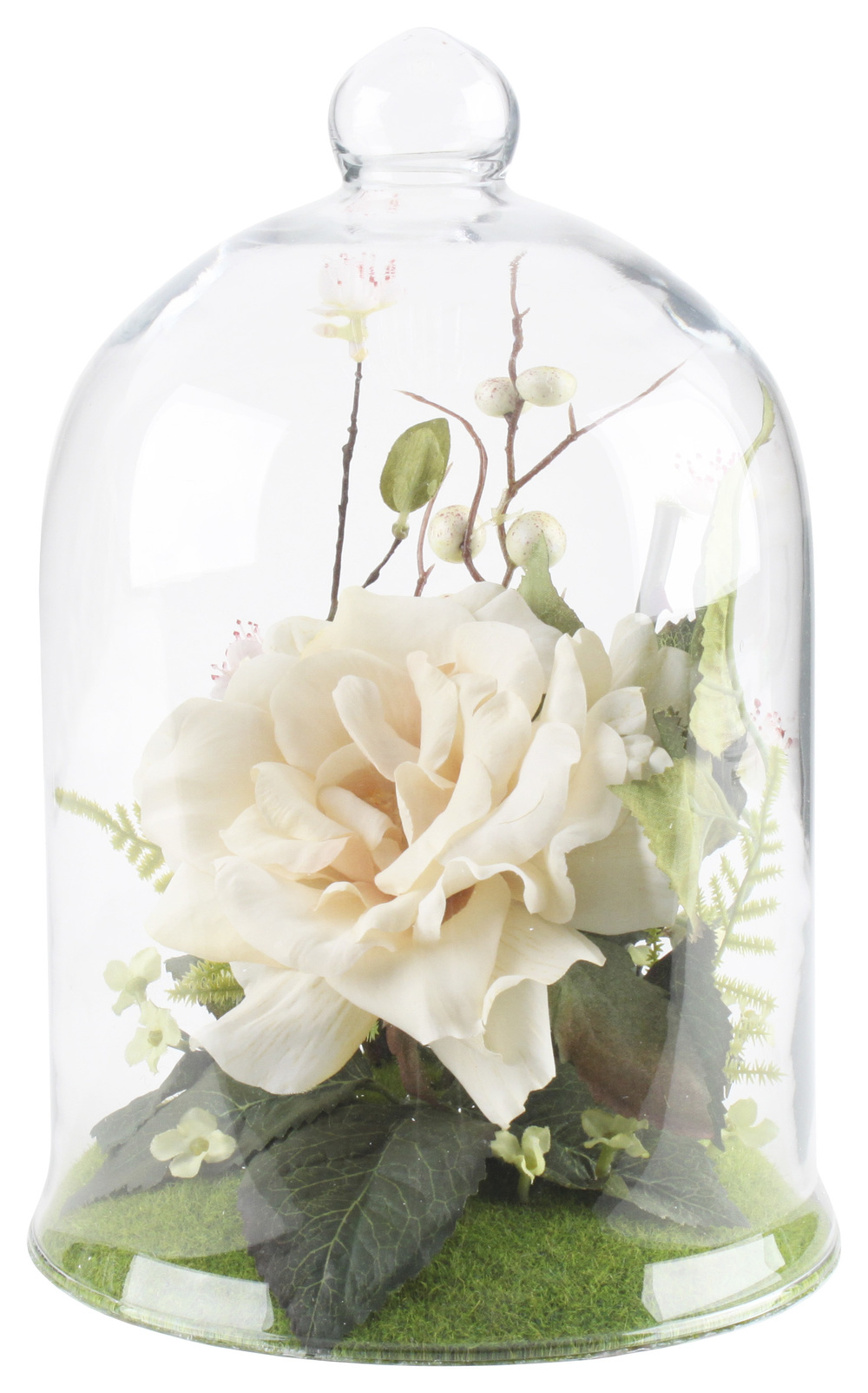 €41 GLASS COVER W/FLOWER 16Χ25