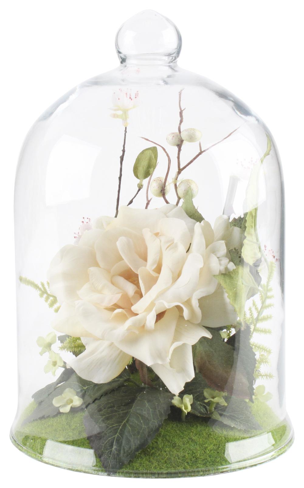 €41 GLASS COVER W/FLOWER 16Χ25