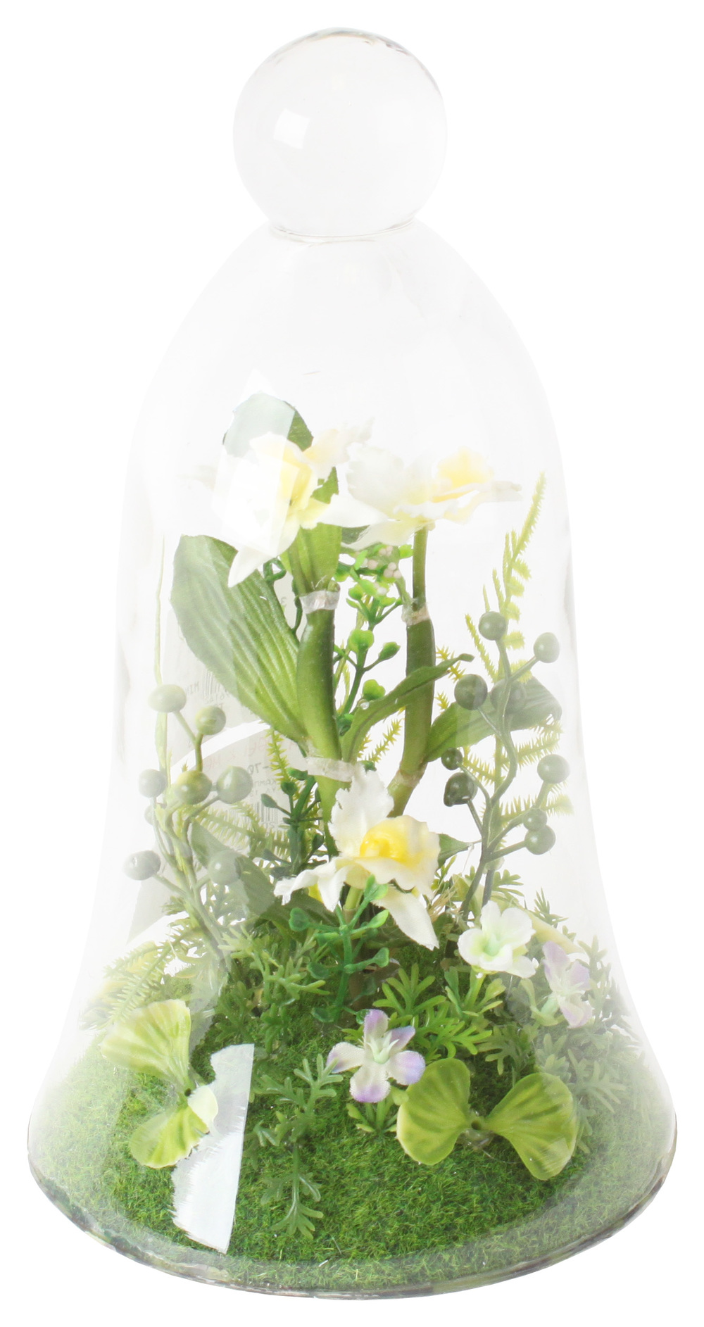 €36 GLASS COVER W/FLOWER 13Χ23