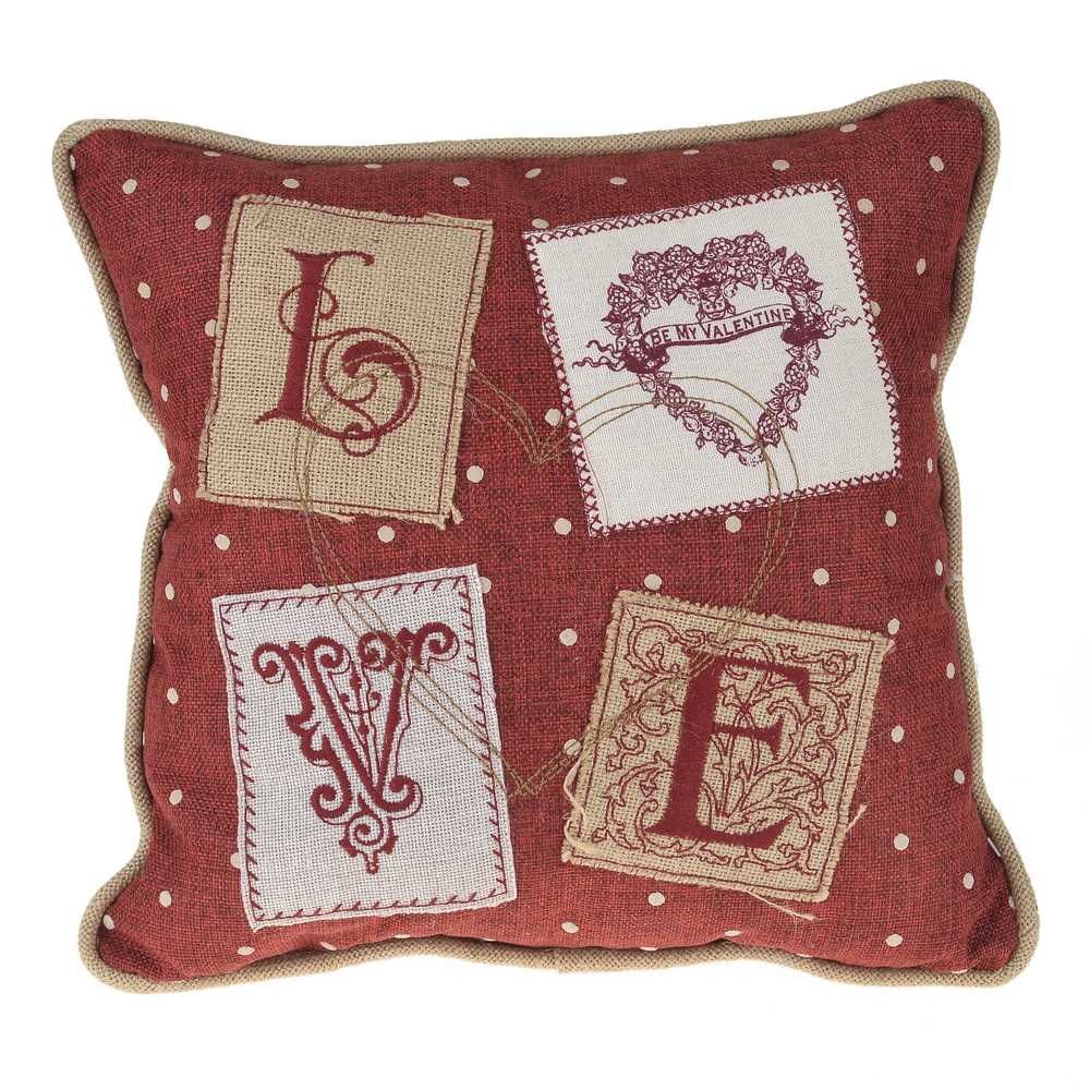 €25 FABRIC FILLING CUSHION 'LOVE' 35Χ35