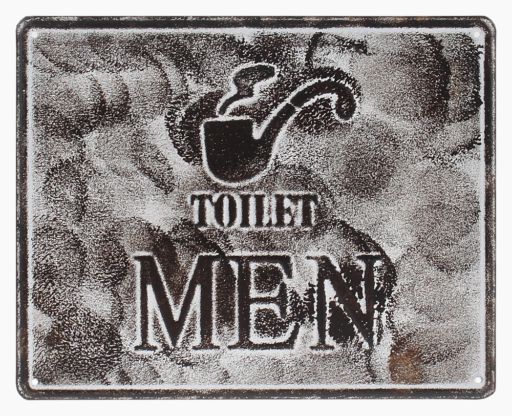 €15 METAL WALL PAINTING  'TOILET MAN' 25X20