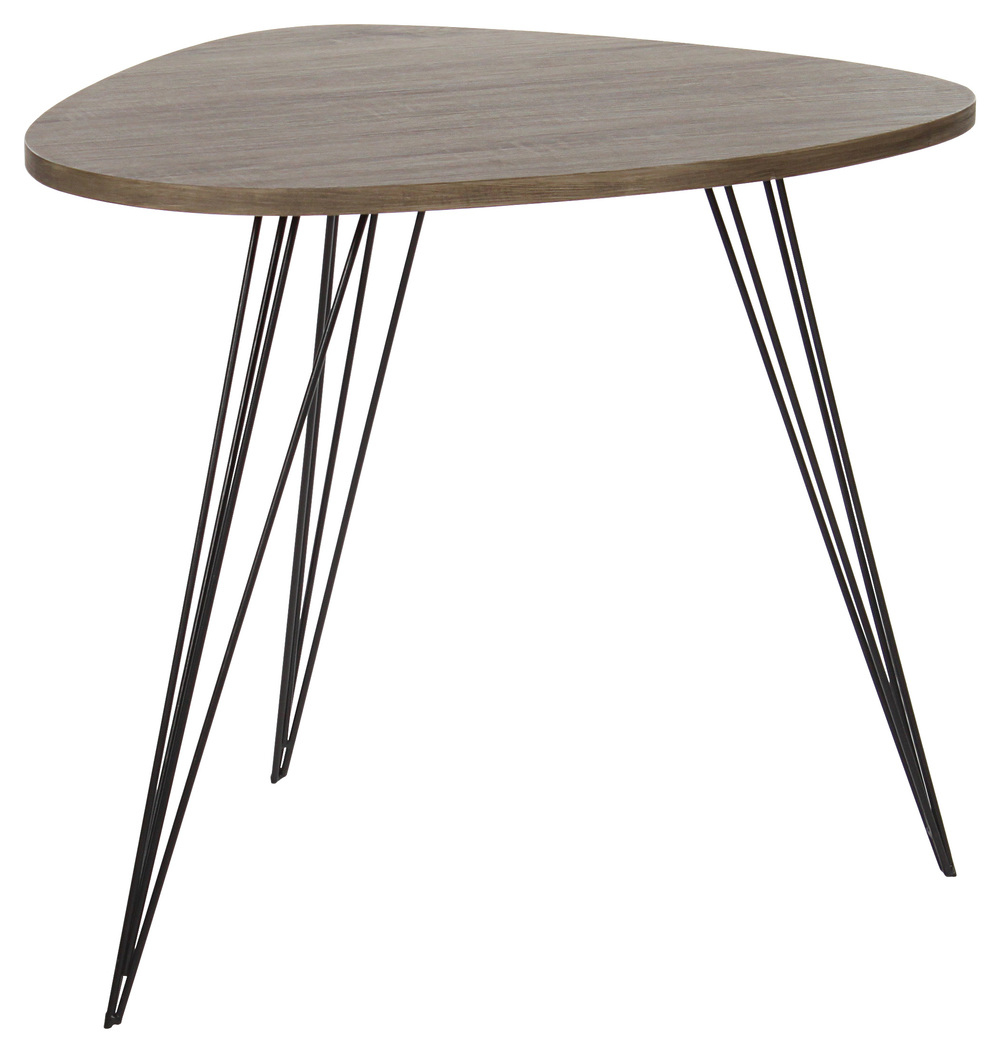 WOODEN NATURAL TABLE W/METAL LEGS 70Χ54Χ60 (to order)