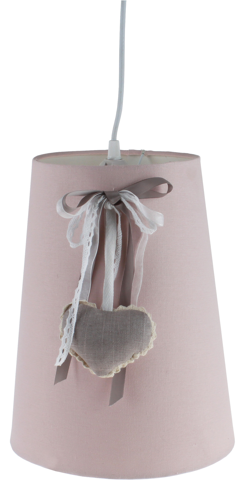 €60 FABRIC CEILING LAMP IN PINK COLOR 26X32/122