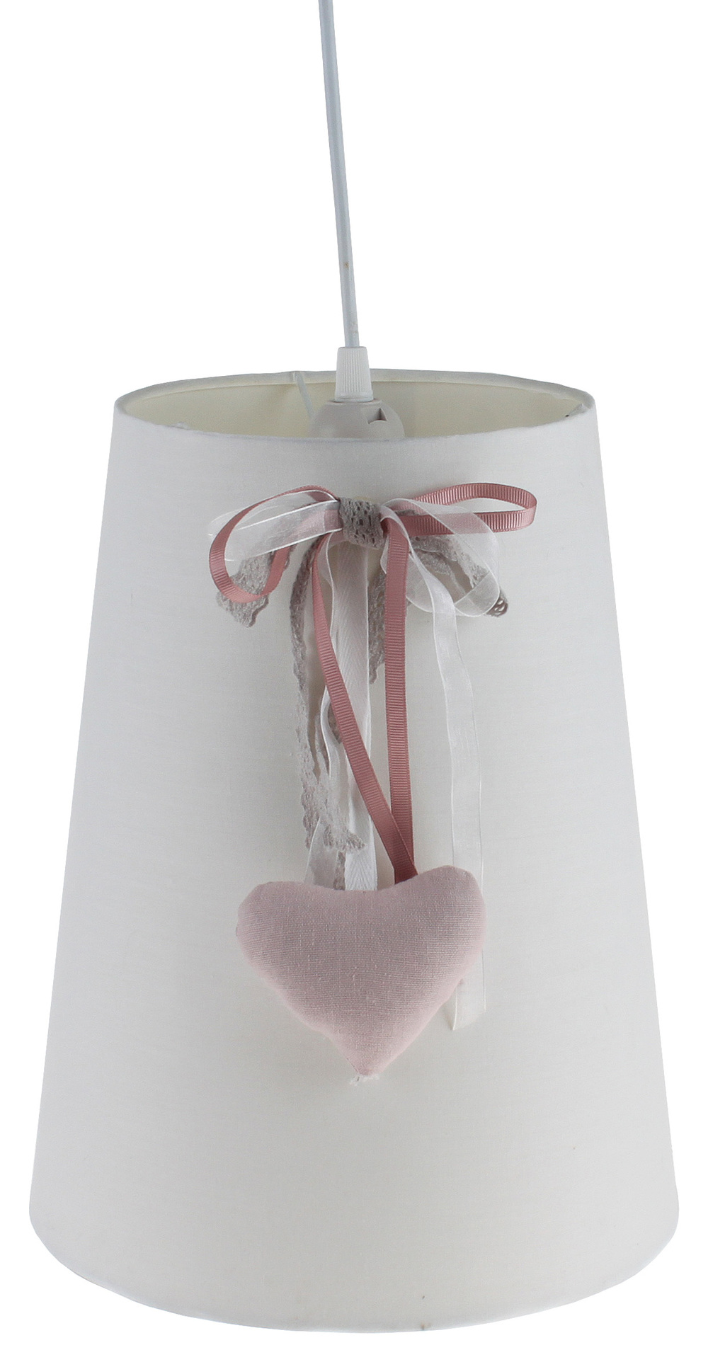 €60 FABRIC CEILING LAMP IN IVORY COLOR 26X32/122