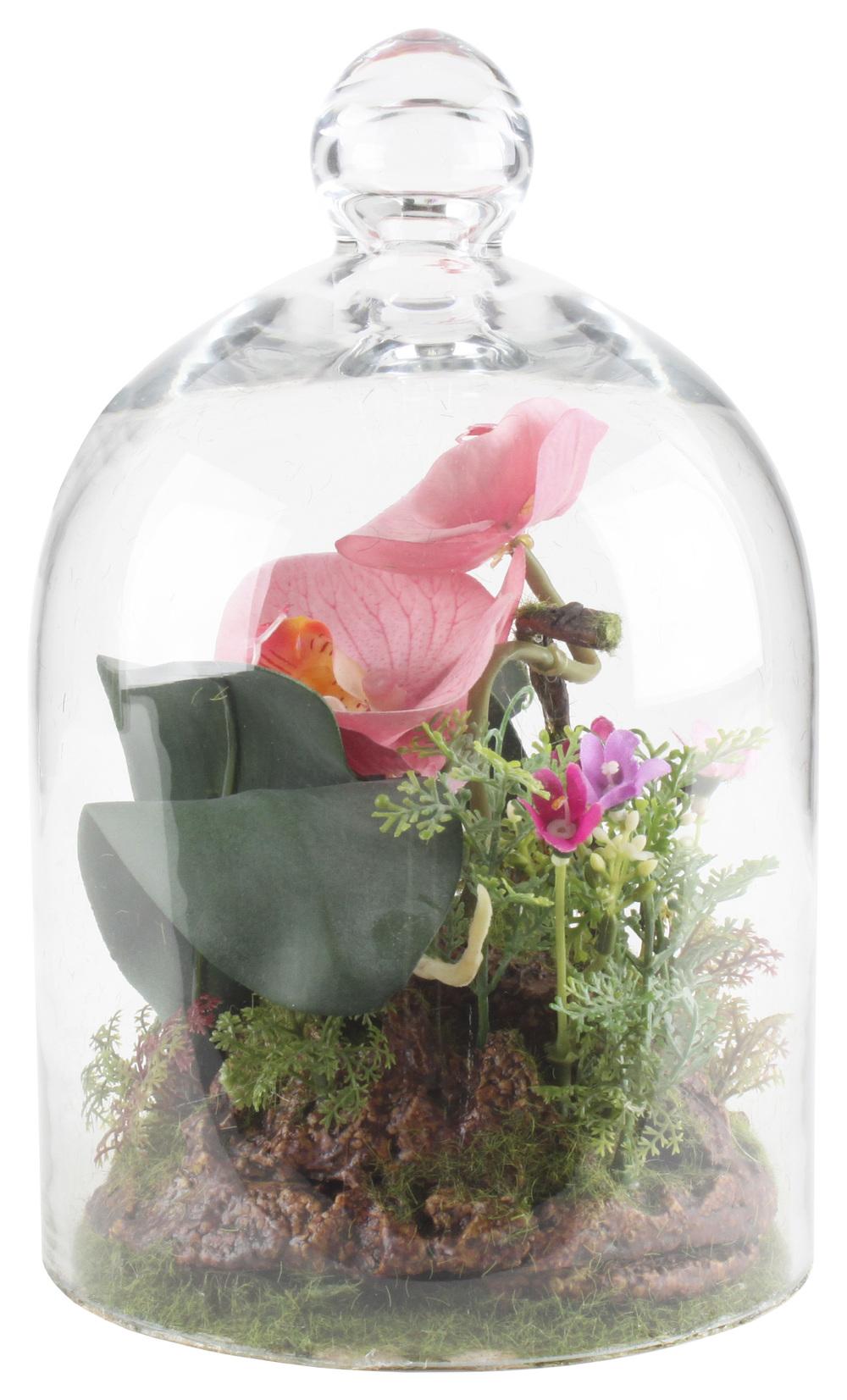 €42 GLASS COVER W/FLOWER 16Χ25