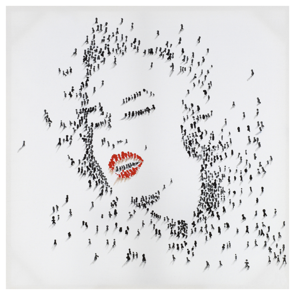€70 PRINTED WALL PAINTING MARILYN 80X80