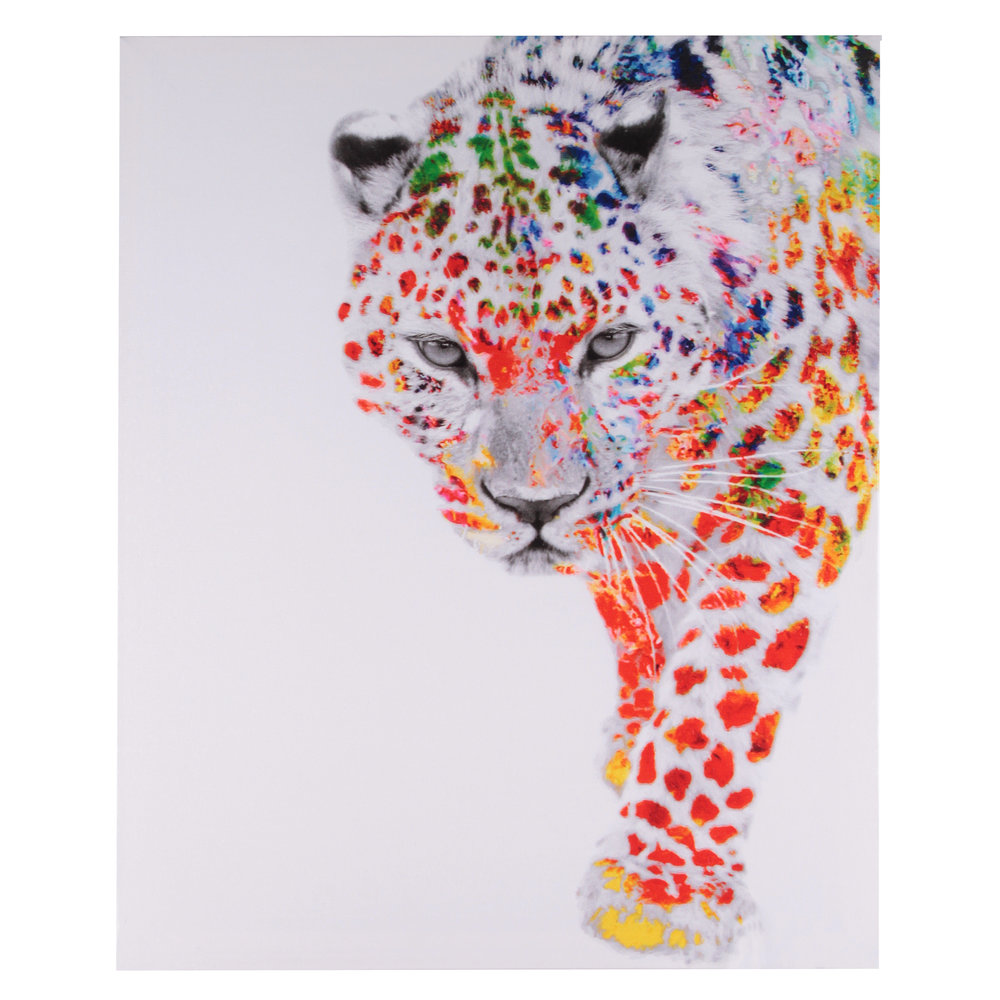 €15 PRINTED CANVAS PAINTING W/TIGER 40X2X50