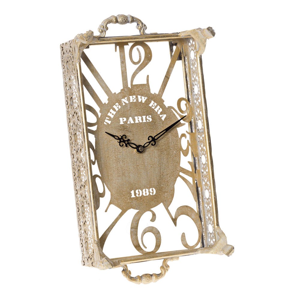 €55 METAL WALL CLOCK IN CHAMPAGNE COLOR 20Χ7Χ34
