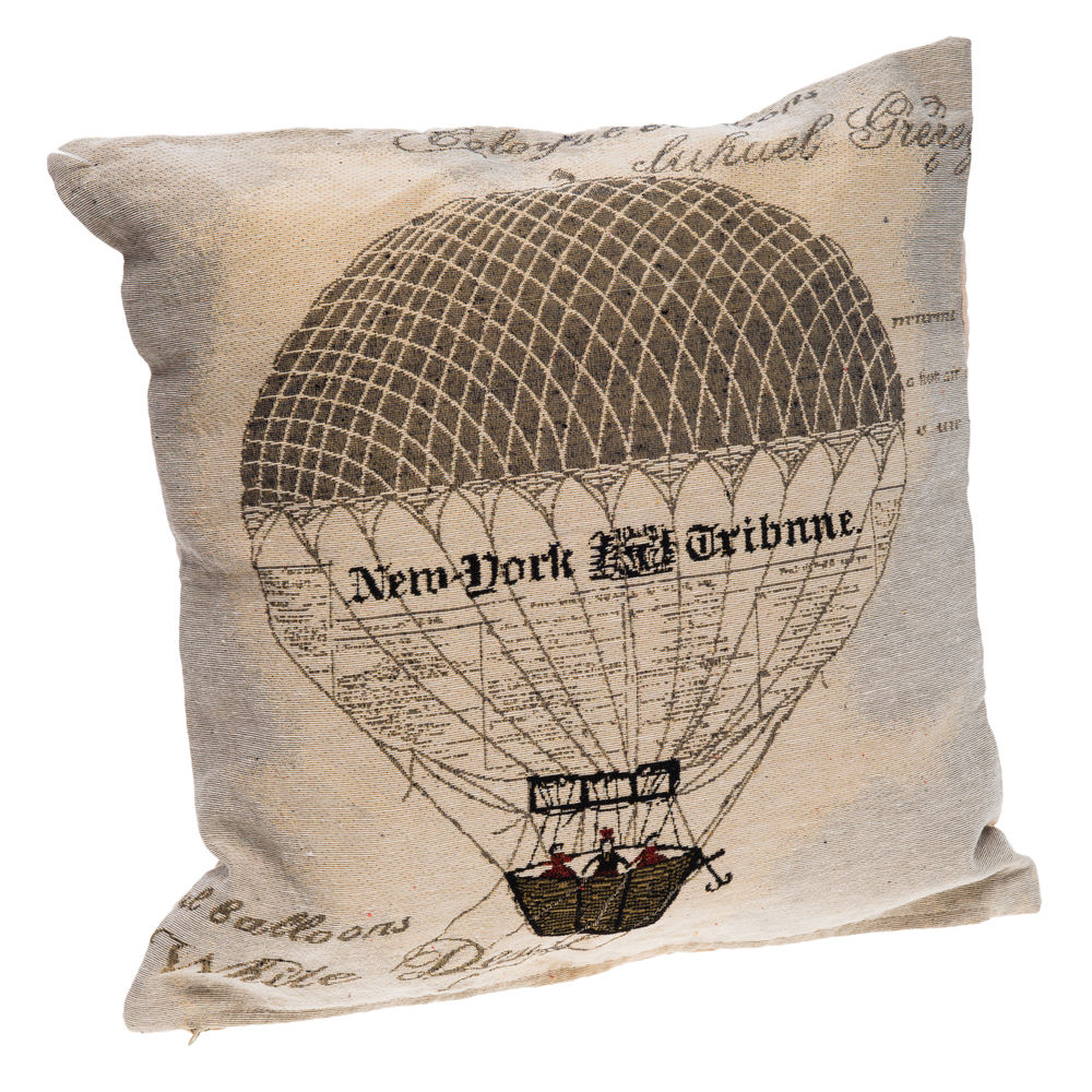 €18 FILLING FABRIC CUSHION W/BALOON 43X43