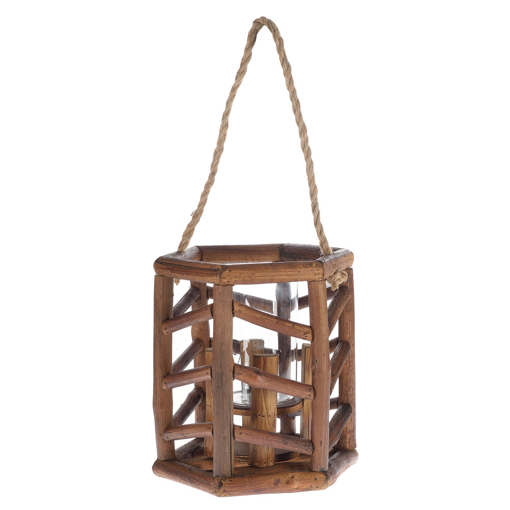 €49 BAMBOO LANTERN IN BROWN COLOR 24X27/50
