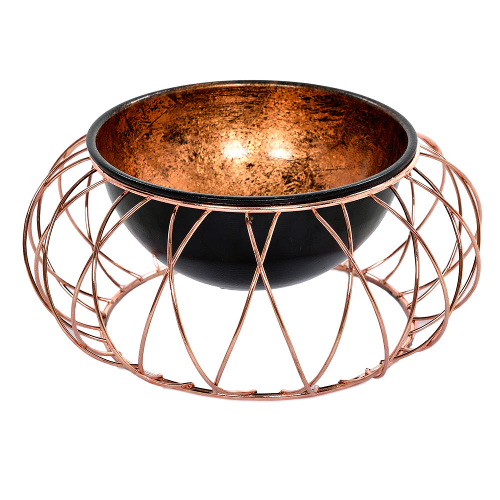 €26 METAL BOWL IN COPPER COLOR 24X24X10