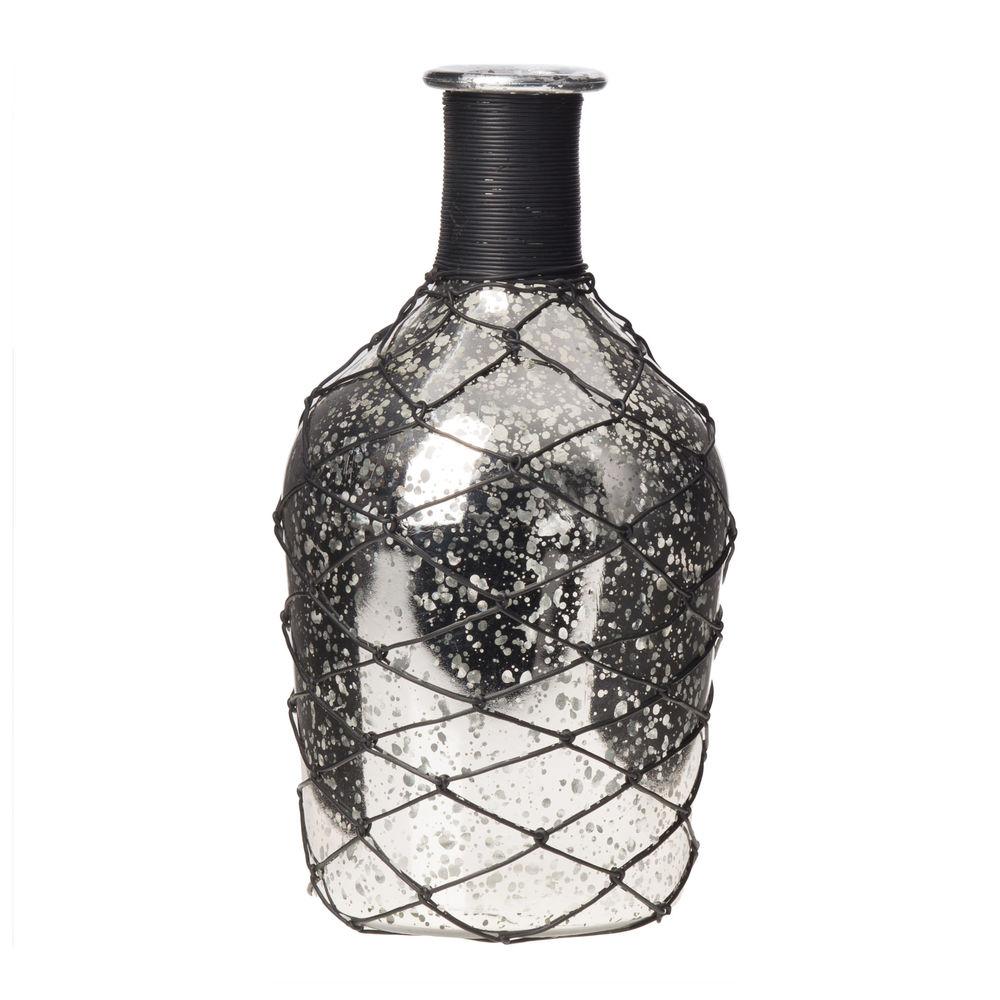 €14 GLASS VASE IN CHAMPAGNE COLOR 11X23