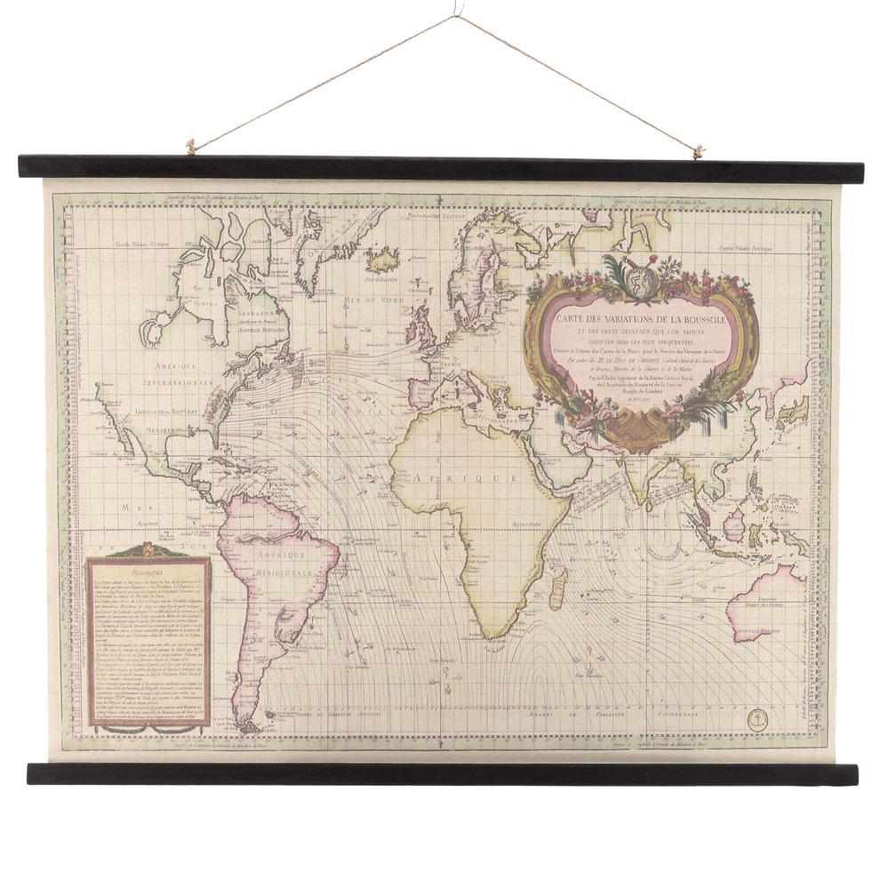 €50 FABRIC WALL DECORATION GLOBAL 100X2X76/110