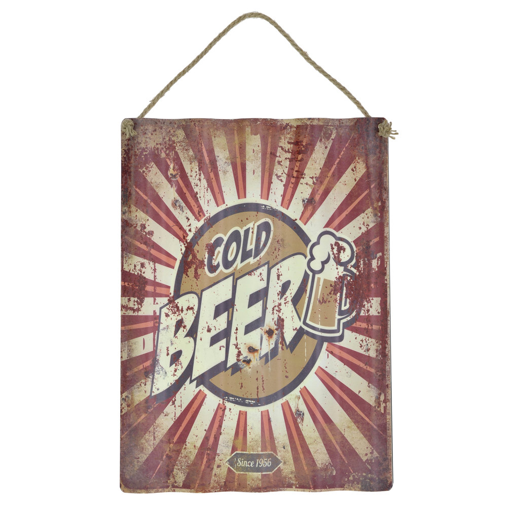 €15 METAL WALL PAINTING  'BEER' 30X40/55